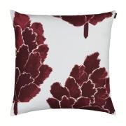 Käpykukka tyynynpäällinen, 50 x 50 cm Vaaleanharmaa-viininpunainen