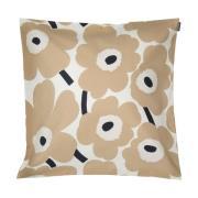 Pieni Unikko tyynynpäällinen Off white-beige-tummansininen