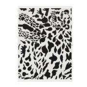 Oiva Toikka Cheetah pyyhe 50x70 cm Musta-valkoinen